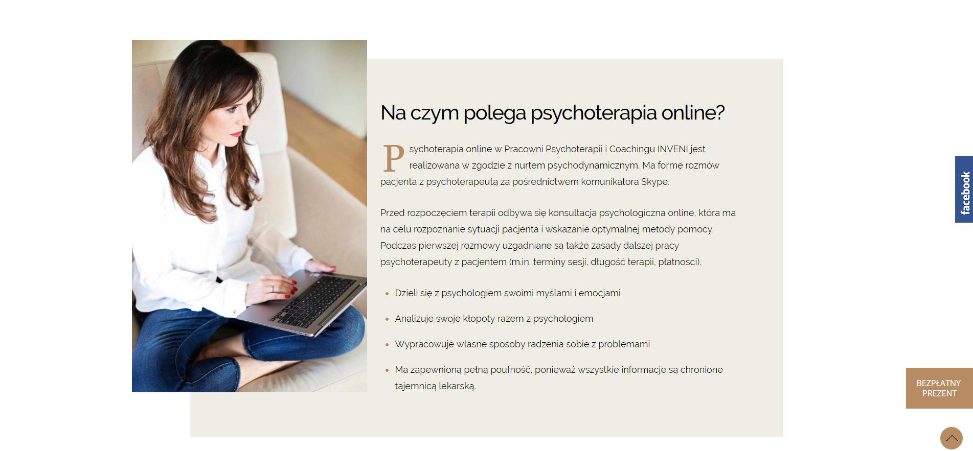 Psychoterapia online Konsultacja psychologiczna online INVENI