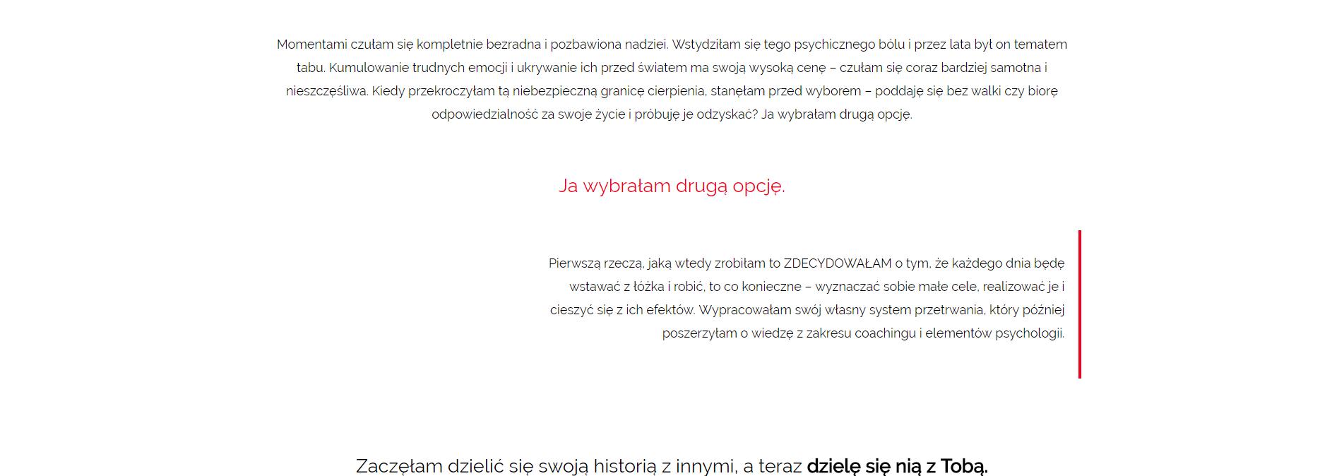 Moja historia Joanna Szendzikowska (1)