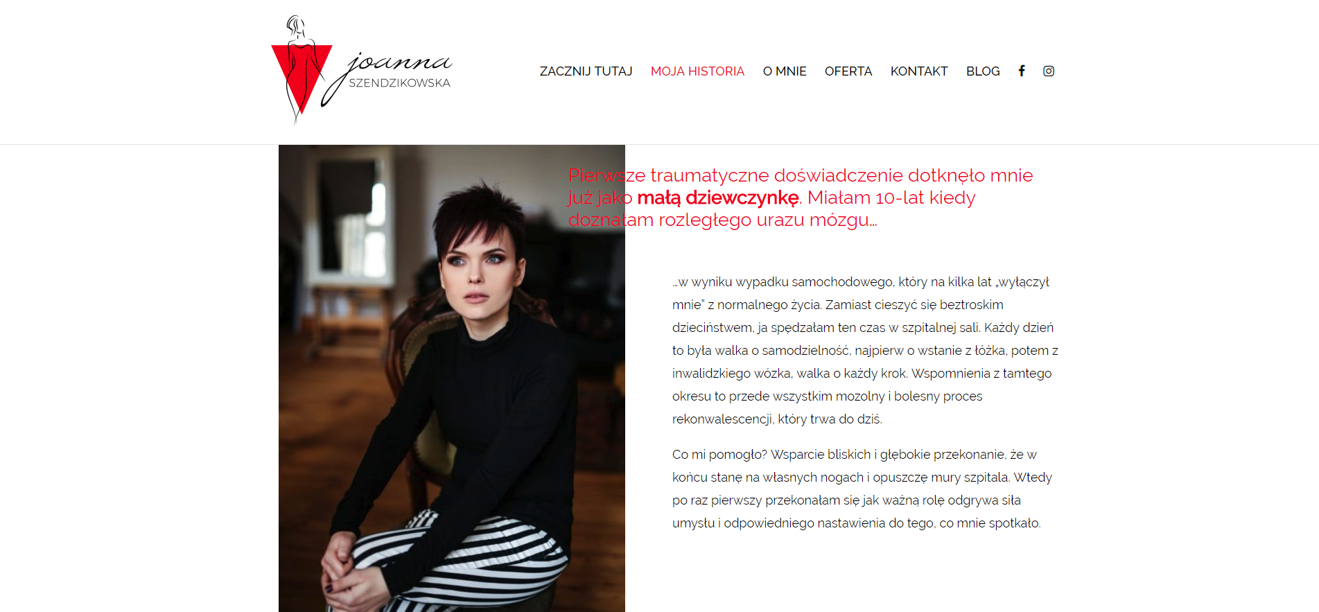Moja historia Joanna Szendzikowska