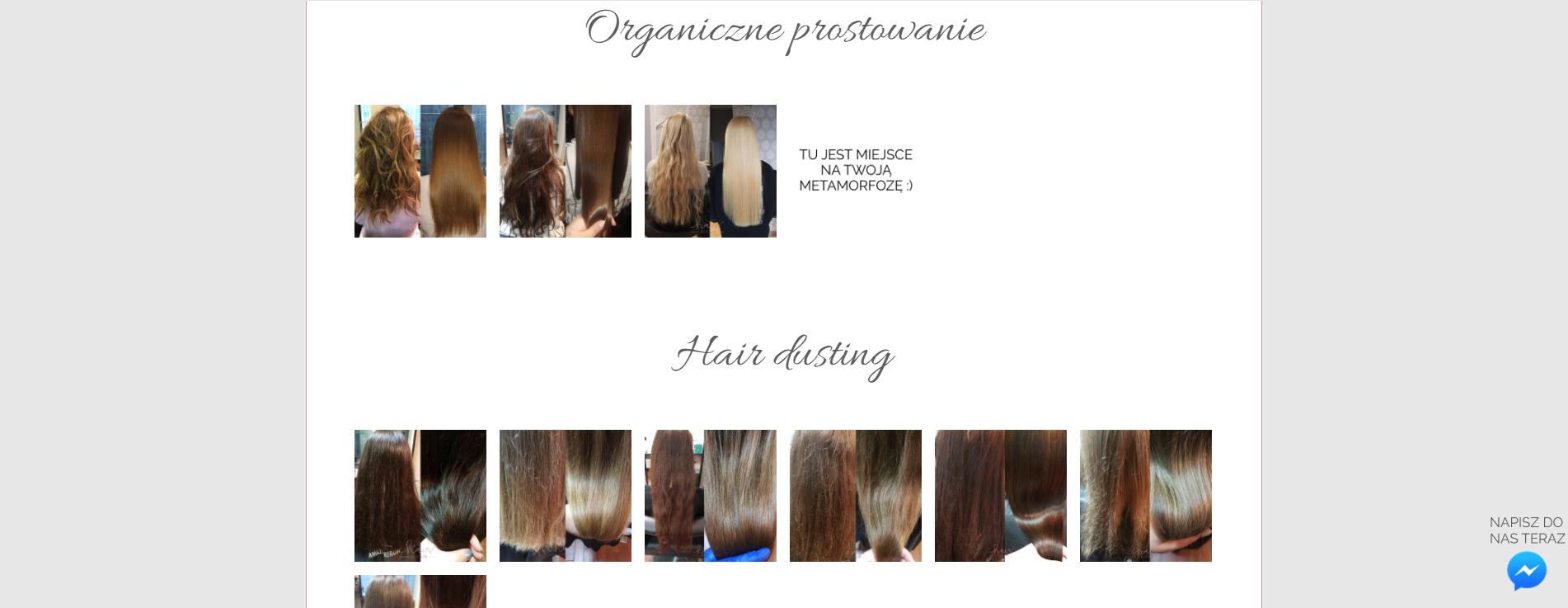 Efekty naszej pracy Hairrepair