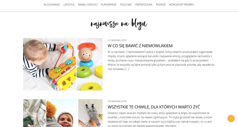 worQshop kreatywny blog lifestylowy